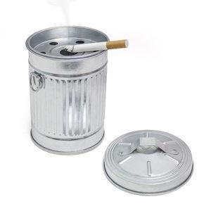 Posacenere da tavolo Garbage in metallo zincato