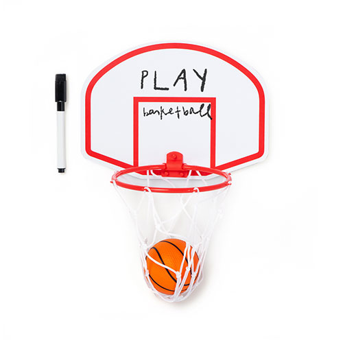 Canestro Basket magneto lavagna con pennarello e palla