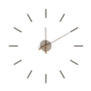 Orologio componibile Stick Tack grigio adesivo da parete