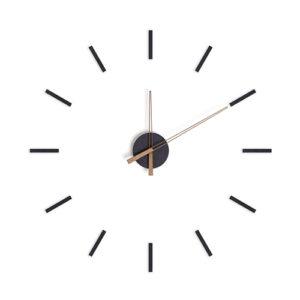 Orologio componibile Stick Tack nero adesivo da parete