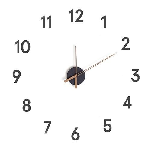 Orologio componibile Momentum nero adesivo da parete