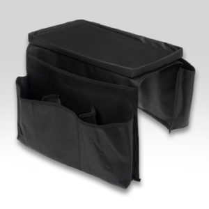 Organizer porta telecomandi da poltrona o divano con 6 tasche e vassoio
