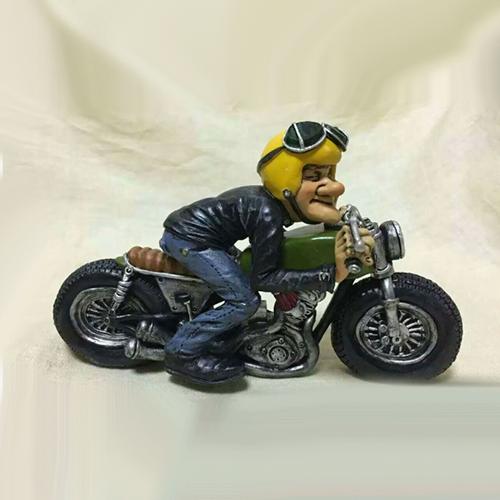 Statuina, caricatura mestiere, professione Motociclista