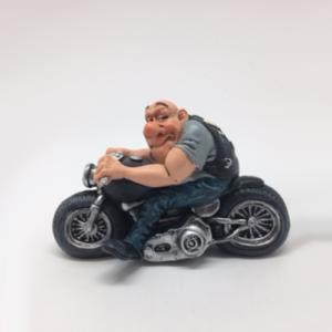 Statuina, caricatura mestiere, professione Motociclista Heasy Riderr