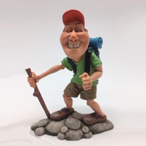 Statuina, caricatura mestiere, professione Scalatore, Scout