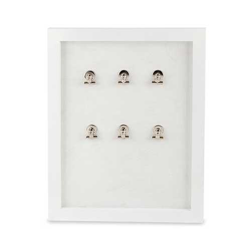 Portafoto multiplo lavagna magnetica Madison bianco