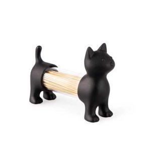 Porta stuzzicadenti, porta sale e porta pepe Cat bianco grigio e nero