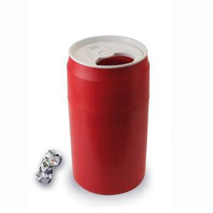 Bidone CAN rosso a forma di lattina