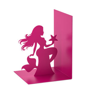 Fermalibri Siren a forma di Sirena in metallo rosa