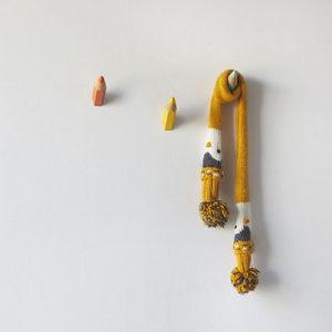 Appendini parete Matite colorate x 3 in legno