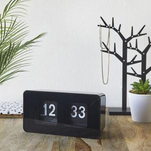 Orologio Flip Clock nero da tavolo o da muro