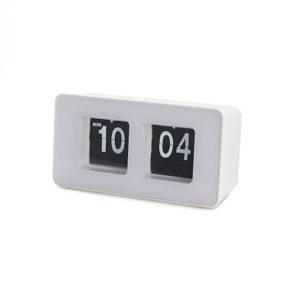 Orologio Flip Clock bianco da tavolo o da muro