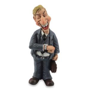 Statuina, caricatura mestiere, professione Agente Rappresentante