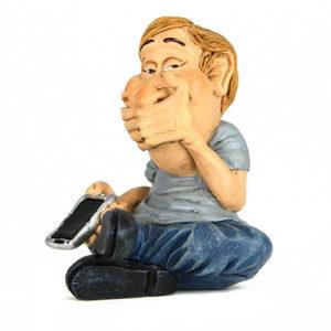 Statuina, caricatura mestiere, professione Non Parlo 7 cm.