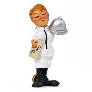 Statuina, caricatura mestiere, professione Barista Cameriera 8,5 cm.