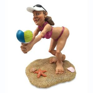 Statuina, caricatura mestiere, professione Giocatrice Beach Volley