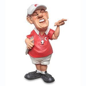 Statuina, caricatura mestiere, professione Coach Allenatore