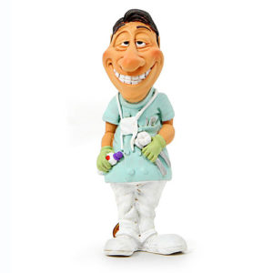 Statuina, caricatura mestiere, professione Dentista 9 cm.