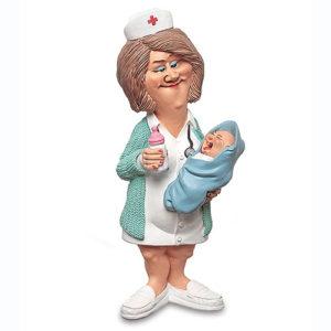 Statuina, caricatura mestiere, professione Ostetrica, Ginecologa