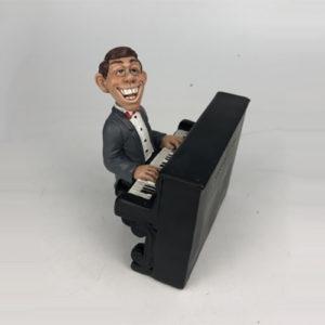 Statuina, caricatura mestiere, professione Pianista