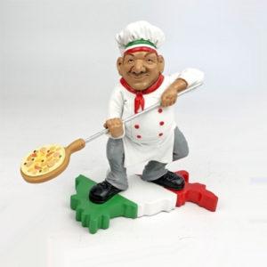Statuina, caricatura mestiere, professione Pizzaiolo con pala pizza