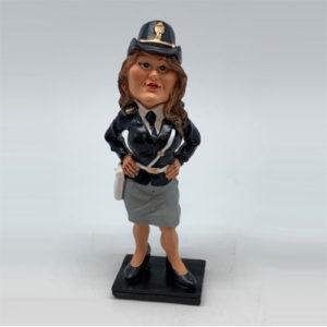 Statuina, caricatura mestiere, professione Poliziotta