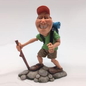 Statuina, caricatura mestiere, professione Scalatore treking, scout