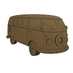 Zerbino Van a forma di Furgoncino anni 60 marrone Balvi