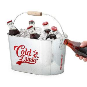 Secchiello bevande Cold Drinks in metallo con apribottiglie Balvi