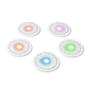 Sottobicchieri con led UFO 5 colori Balvi