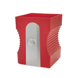 Cestino gettacarte Sharpener temperamatite rosso plastica Balvi