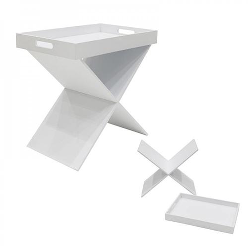 Tavolino con vassoio amovibile in legno