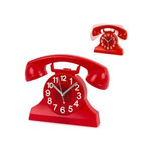 Orologio Riing a pendolo a forma di telefono vintage rosso Balvi