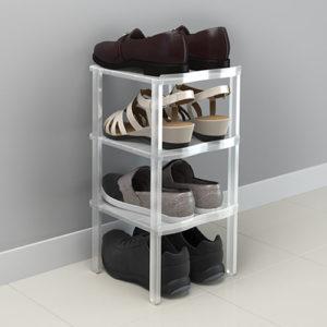 Porta scarpe x 4 in plastica bianco traslucido Balvi