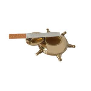Posacenere Timone da tavolo in ottone lucido raccogli cenere tascabile