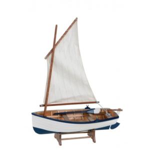 Modellino peschereccio a vela in legno 32 x 41 x 12,5 cm