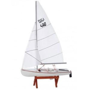 Modellino Barca a Vela 470 veliero legno dipinto a mano 26 x 41,5 x 9 cm regalo