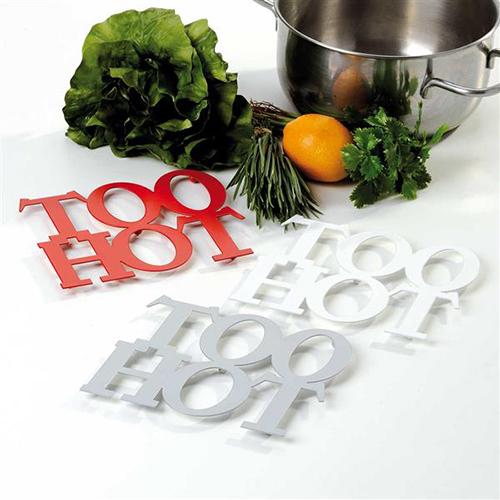 Sottopentola da cucina in metallo smaltato too hot