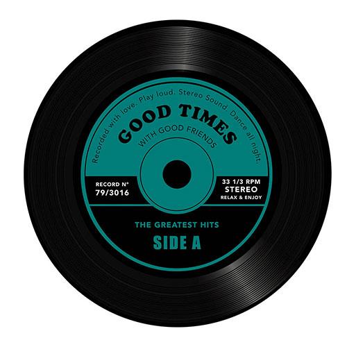 Tavolino da salotto Greatest Hits a forma di disco vinile