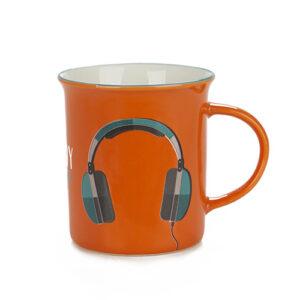 Tazza Mug da colazione con Cuffie per musica