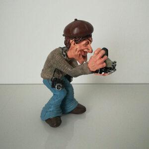 Statuina, caricatura mestiere, professione Fotografo Paparazzo