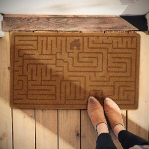 Zerbino Labirinto marrone di design in poliestere