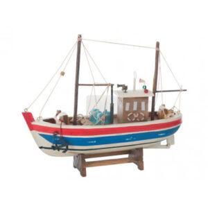 Modellino Peschereccio in legno 25 x 20 x 6,5 cm.