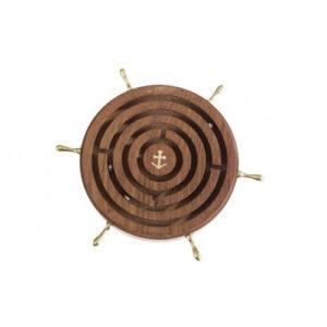 Gioco Labirinto da scrivania in legno e ottone