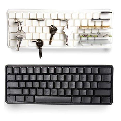 Appendi chiavi da parete Tastiera del computer nera