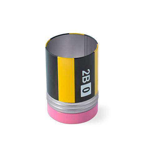 Portapenne Crayon con coperchio porta graffette