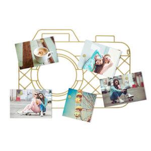 Portafoto Macchina Fotografica da parete con 5 magneti