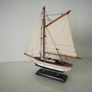 Modellino Veliero l.35 x h.38 x 6,6 in legno dipinto a mano