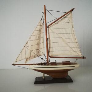 Modellino Veliero l.36 x h.36 x 6,6 in legno dipinto a mano