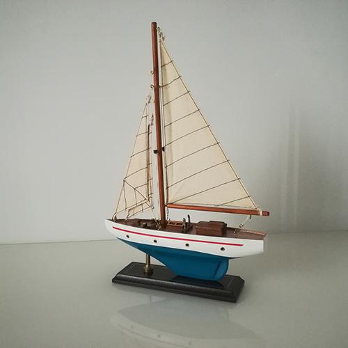 Modellino Veliero l.25 x h.36 x 6,6 in legno dipinto a mano